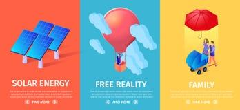 Kleurrijke Verticale Geplaatste Banners, Exemplaarruimte stock illustratie