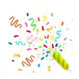Kleurrijke vieringsachtergrond met confettien Royalty-vrije Stock Fotografie