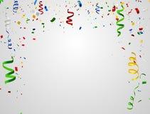 Kleurrijke vieringsachtergrond met confettien Stock Foto