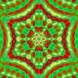 Kleurrijke vierkante tegel stock illustratie
