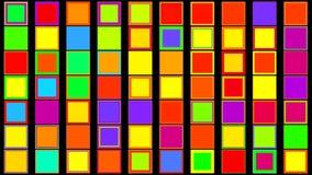 Kleurrijke vierkanten abstracte achtergrond stock illustratie