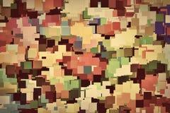 Kleurrijke vierkantenachtergrond in uitstekende sepia tint stock illustratie