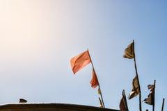 Kleurrijke visserijvlaggen om de visserij in snijder te merken Royalty-vrije Stock Afbeelding