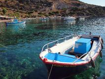 Kleurrijke Vissersboten, Zakynthos, Griekenland Stock Fotografie