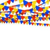 Kleurrijke Vlag Garland With Text Space Stock Foto