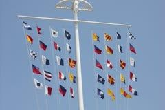 Kleurrijke vlaggen Royalty-vrije Stock Afbeeldingen