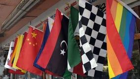 Kleurrijke vlaggen Stock Afbeeldingen