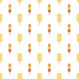 Kleurrijke vlakke naadloze het patroonachtergrond van het ontwerproomijs Stock Fotografie