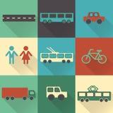 Kleurrijke vlakke stadselementen met schaduwen voor het creëren van uw eigen infographic kaart Stock Foto