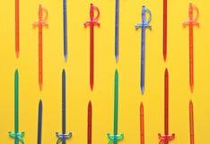 Kleurrijke vleespennen voor canape Royalty-vrije Stock Foto's