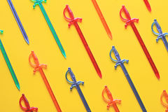 Kleurrijke vleespennen voor canape Royalty-vrije Stock Foto