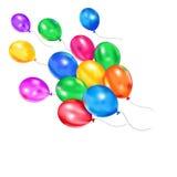 Kleurrijke vliegende ballons Stock Foto's