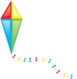 Kleurrijke vlieger vector illustratie