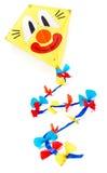 Kleurrijke vlieger die op wit wordt geïsoleerde Royalty-vrije Stock Afbeeldingen