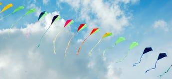 Kleurrijke vliegers Stock Foto