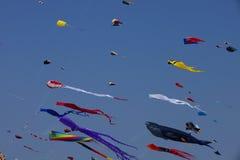 Kleurrijke vliegers royalty-vrije stock afbeeldingen