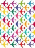 Kleurrijke vliegtuigen stock illustratie