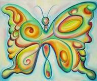 Kleurrijke vlinder royalty-vrije illustratie