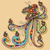 Kleurrijke vlinderappel stock illustratie