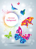 Kleurrijke Vlinders abstracte achtergrond Royalty-vrije Stock Foto's