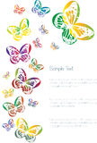 Kleurrijke vlinders die op wit worden geïsoleerd royalty-vrije illustratie