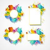Kleurrijke vlinders, kaart Royalty-vrije Stock Afbeelding