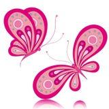 Kleurrijke vlinders, kaart Stock Foto's