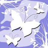 Kleurrijke vlindersachtergrond Stock Fotografie