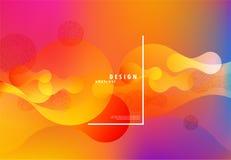Kleurrijke vloeibare achtergrond Vector abstract minimalistic ontwerp vector illustratie