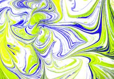 Kleurrijke vloeibare het schilderen abstracte textuur, kunsttechniek royalty-vrije illustratie