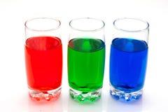 Kleurrijke vloeistoffen Stock Fotografie