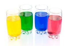 Kleurrijke vloeistoffen Royalty-vrije Stock Foto's