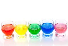 Kleurrijke vloeistoffen Stock Foto