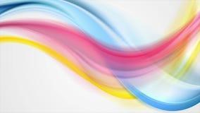 Kleurrijke vlotte abstracte golven videoanimatie stock illustratie
