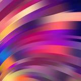 Kleurrijke vlotte lichte lijnenachtergrond Stock Afbeelding