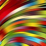 Kleurrijke vlotte lichte lijnenachtergrond Royalty-vrije Stock Fotografie