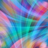 Kleurrijke vlotte lichte lijnenachtergrond Stock Afbeeldingen