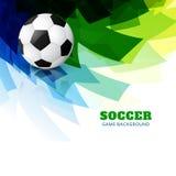 Kleurrijke voetbalvector stock illustratie