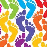 Kleurrijke voeten Stock Foto