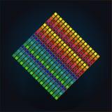 Kleurrijke volumekubus in ruimte Stock Foto's