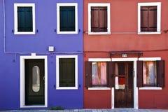 Kleurrijke voorgevel Stock Foto's