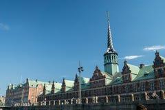 Kleurrijke voorgevels langs Nyhavn, Kopenhagen royalty-vrije stock foto
