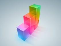 Kleurrijke vooruitgang Stock Foto