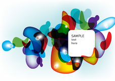 Kleurrijke vormen abstracte achtergrond Royalty-vrije Stock Foto's