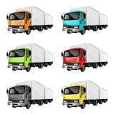 Kleurrijke Vrachtwagens Stock Foto