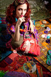 Kleurrijke vrouw Royalty-vrije Stock Foto's