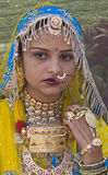 Kleurrijke Vrouw Rajasthani Stock Afbeelding