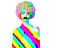 Kleurrijke vrouwen/vrouwelijk volwassene/meisje met Royalty-vrije Stock Afbeeldingen