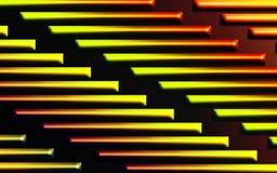 Kleurrijke vurige barsachtergrond - Abstract dimensionaal vormenbehang royalty-vrije illustratie