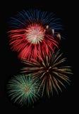Kleurrijke vuurwerkvertoning Stock Foto's